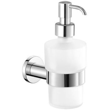 SCBA Galaxy Wall Frosted Glass Pump Soap Lotion Dispenser Bath or Kitchen