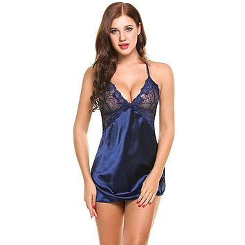 Silk Nightgown Lingerie