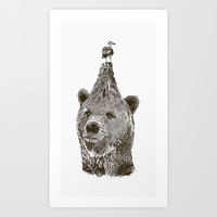 Bear Art Print by Galen Valle