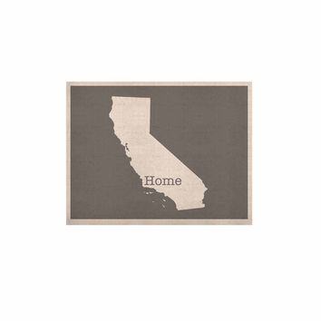 "Bruce Stanfield ""California Is Home"" Gray White KESS Naturals Canvas (Frame not Included)"