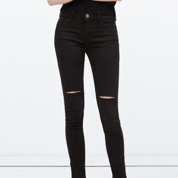 c3598fa5 RIPPED SKINNY JEANS from ZARA | Pants