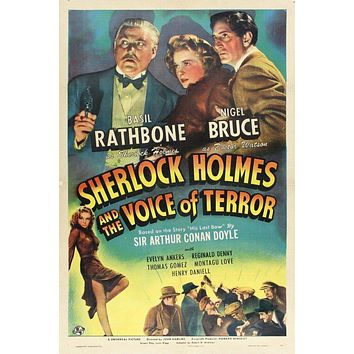 Vintage Sherlock Holmes Poster//Classic Movie Poster//Movie Poster//Poster Reprint//Home Decor//Wall Decor//Vintage Art