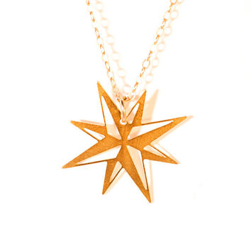 Christmas Star  Necklace Gold Filled Star Necklace Icon Jewelry Design Logo Necklace Minimalist Jewelry Gold Plated Small Pendant Unisex