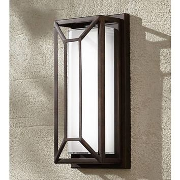 "Radcliffe 12"" High Bronze Finish LED Outdoor Wall Light - #7K578 