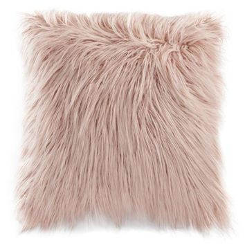 DCCKX8J LC Lauren Conrad Faux Fur Throw Pillow