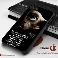 Harry Potter and the deathly hallows dobby for iPhone 4/4S, iPhone 5/5S, iPhone 6, iPod 4, iPod 5, Samsung Galaxy Note 3, Galaxy Note 4, Galaxy S3, Galaxy S4, Galaxy S5, Galaxy S6, Phone Case