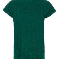 Green Textured High Roll T-Shirt - Men's T-Shirts & Vests - Clothing