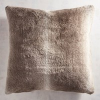 Faux Fur Ombre Gray Euro Pillow Sham