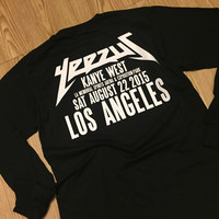 Yeezus Tour Shirt Kanye West Black Los Angeles Longsleeve / Yeezy