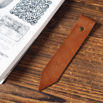 Leather Bookmarks #Dark Brown