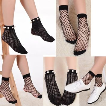 Fishnet Stocks Fashion Socks Soft High Socks Girl Mesh