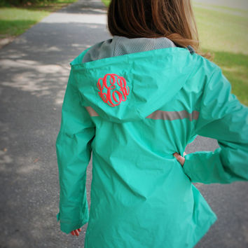 Monogrammed Charles Rivers Rain Jacket with Lilly Pulitzer Bow