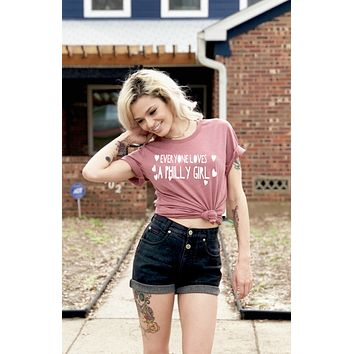 Everyone Loves a Philly Girl Short-Sleeve Unisex T-Shirt in Mauve