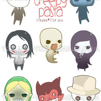 Creepypasta Stickers