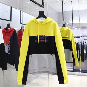 cc kuyou Vetements Hoodies Yellow
