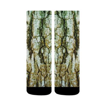 Tree Bark Design 1 Crew Socks