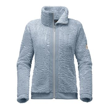 Women's Furry Fleece Full Zip Jacket in Dusty Blue by The North Face
