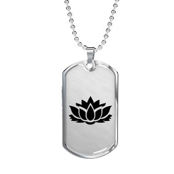 Lotus Flower - Luxury Dog Tag Necklace