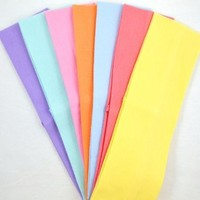 (Set of 7) 2.5 Inch Cotton Stretch Headbands From Funny Girl Designs (Official Funny Girl Designs Pastel Set)
