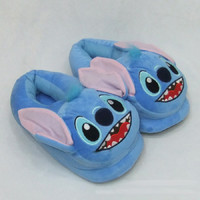 Lilo Stitch Plush slippers cotton warm winter home slipper