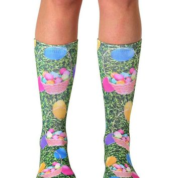 Easter Eggs Crew Socks