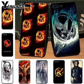 Yinuoda The Hunger Games movie Logo Adorable Colored Drawing Phone Accessories Case for iPhone 7plus X 6 6S 7  8 8Plus 5 5S case