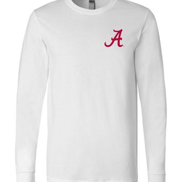 Official NCAA Venley University of Alabama Crimson Tide UA ROLL TIDE! Long Sleeve T-Shirt - 35AL-24