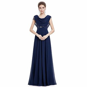New Arrival A-line Cap Sleeve adult sequin bridesmaid chiffon dresses Wedding party dresses robe de soiree party dress style