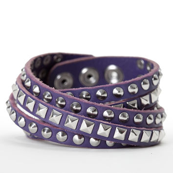 Double Wrap Mixed Studded Bracelet