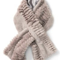 Faux Fur Pull-Through Scarf|banana-republic