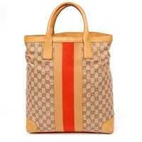 Gucci Brown Canvas Tote 5616 (Authentic Pre-owned)