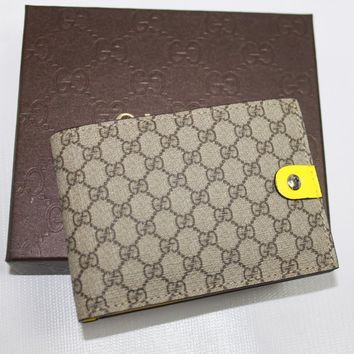 AUTH Gucci Men Leather GG Guccissima Wallet