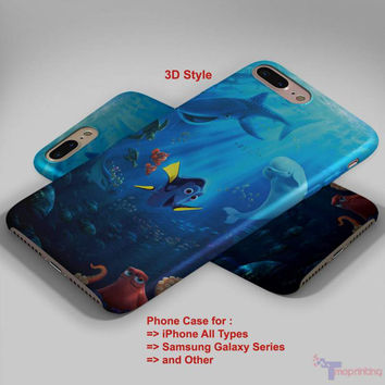 Finding Dory Poster - Personalized iPhone 7 Case, iPhone 6/6S Plus, 5 5S SE, 7S Plus, Samsung Galaxy S5 S6 S7 S8 Case, and Other