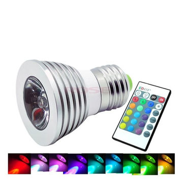 E27 3W 16 Color RGB LED Light Lamp Bulb 85-265V Lighting Lights + Remote Control  763|26601 = 1745554884