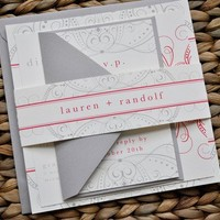 Divinity Wedding Invitation Suite with Belly Band by lvandy27