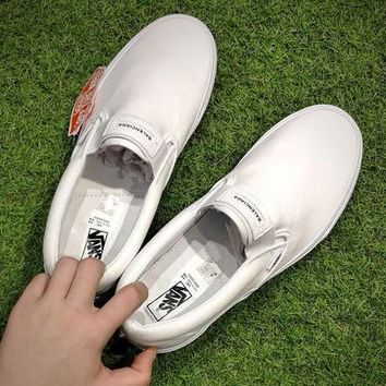 Vans X Balenciaga Slip-On Casual Canvas Old Skool Flats Shoes