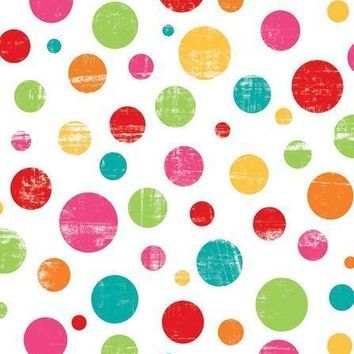 Colorful Polka Dots Platinum Cloth Backdrop - 8x10 - LCPC7046 - LAST CALL