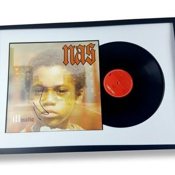 Nas Autographed Signed Framed LP Record Album Illmatic