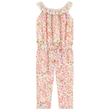 Printed Crepe Jumpsuit Mayoral for Girls