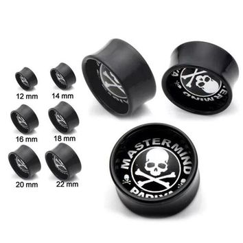 ac DCCKO2Q 1 piece New Skulls Ear Plugs Tunnels Flesh Expansions Piercing Crystal Ear Plugs Earring Gauges Ears Expanders Punk Body Jewelry
