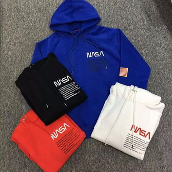 2019SS TOP NEW Heron Preston letters printing embroidery USA flag Men Pullover Hoodie hip hop Fashion Casual Cotton Sweatshirts