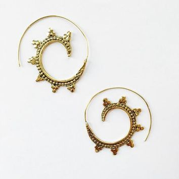 Traditional Indian Spiral Earrings