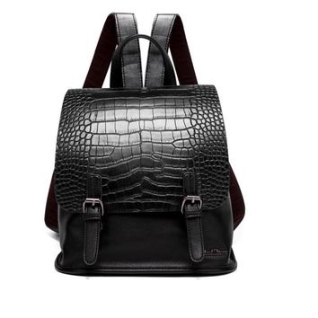 Alligator tattooed mini female backpack