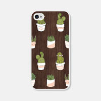 Wood iPhone 6 Case - Succulent iPhone 5 Case - Wood iPhone 5 Case - Pink Cactus iPhone 5 Case - Geometric iPhone 5c Case - Cco