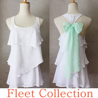 SEASIDE AURA  Sleeveless Snow White Blouse w by FleetCollection
