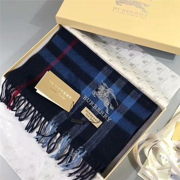 Best Online Sale Luxury Burberry Keep Warm Scarf Embroidery Scarves Winter Wool Shawl - Multicolor 4