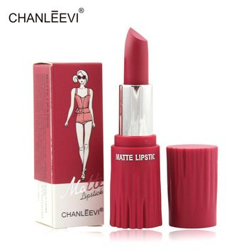 New Waterproof 12 Colors Red Sexy Matte Lipstick Pencils Long Lasting Moisturizer Velvet Lipsticks Lip Stick Makeup