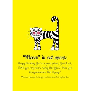 Meow in Cat - Single Card