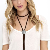 Lone Ranger Brown Bolo Necklace