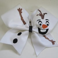 "3"" Width Olaf - Frozen Cheer Bow"